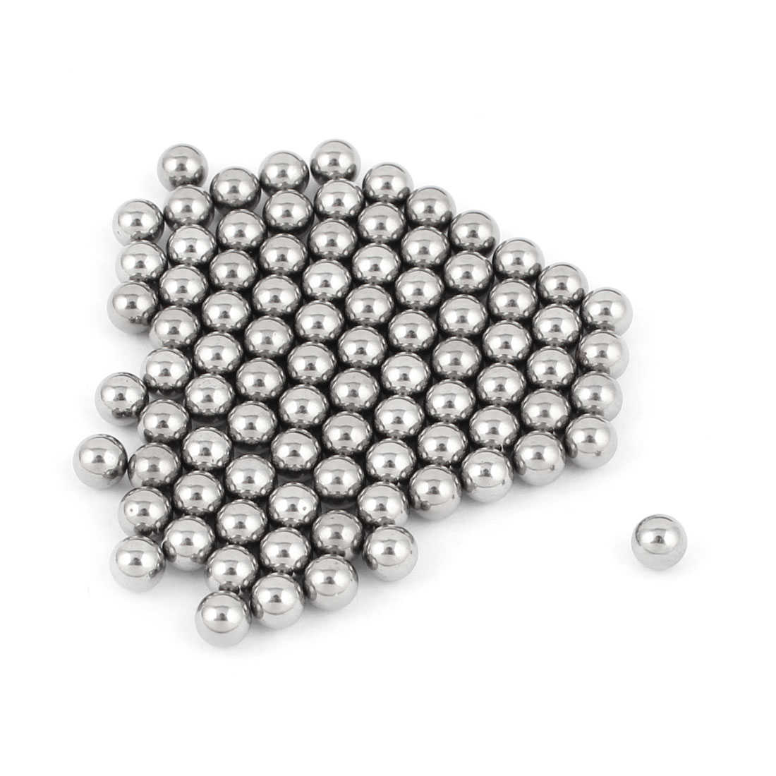 Bicycle Repair Parts 4mm Dia Steel Bearing Balls Silver Tone 100pcs