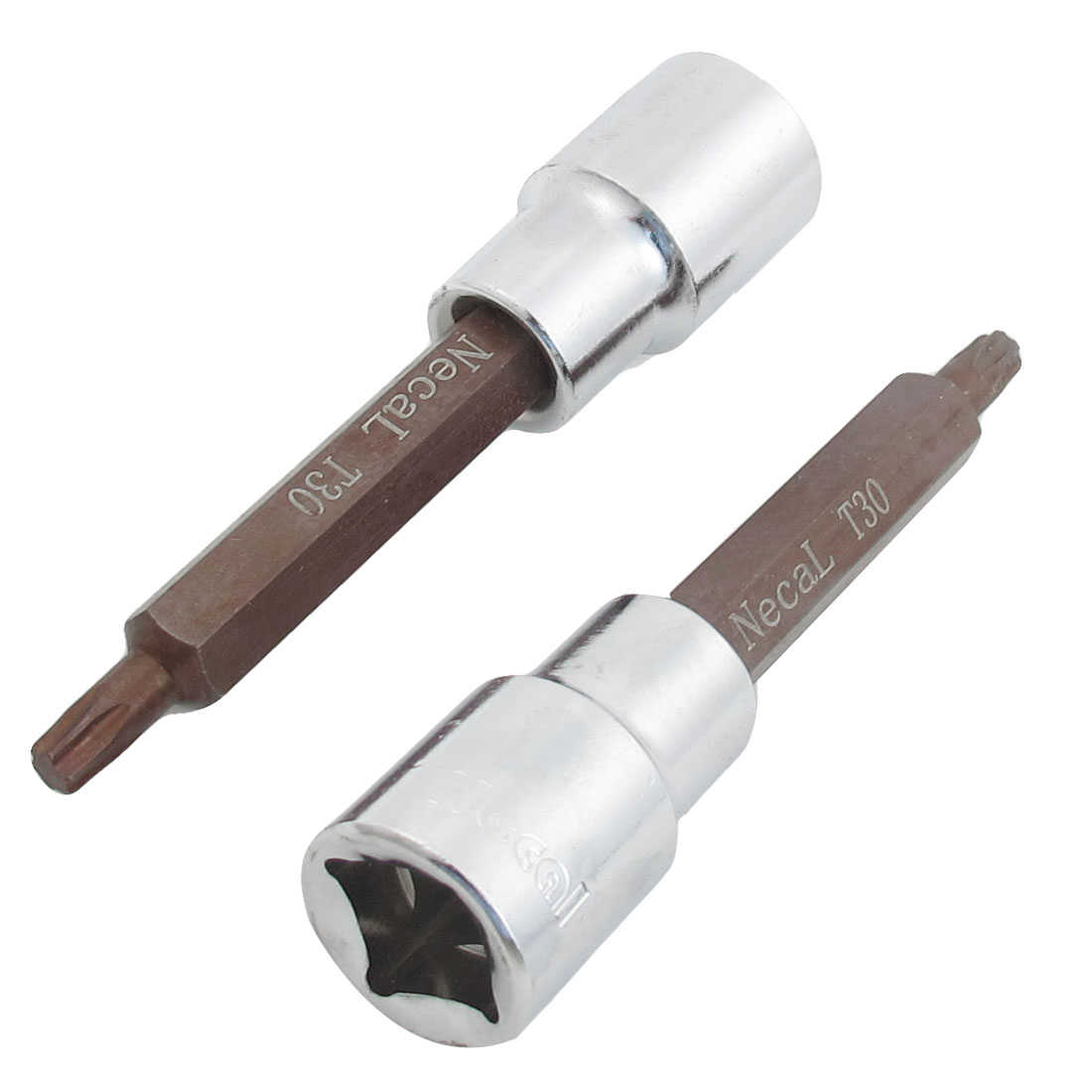 Unique Bargains 2 x Six Point T30 3/14' Handle Screwdriver Inserted 1/2' Square Drive Socket