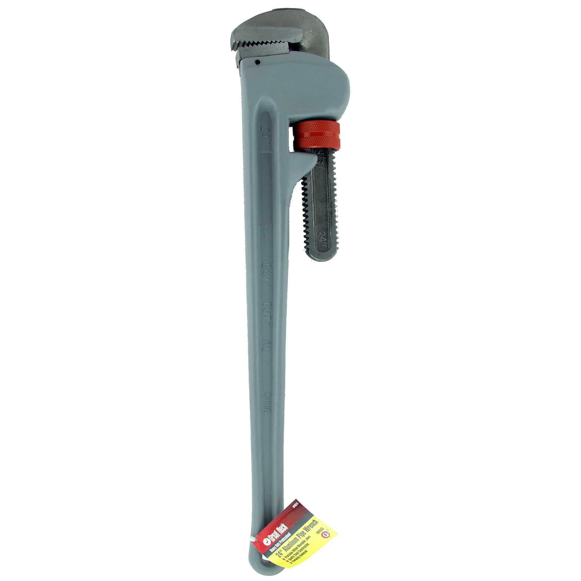 Great Neck Pipe Wrench, Aluminum, 24 In.