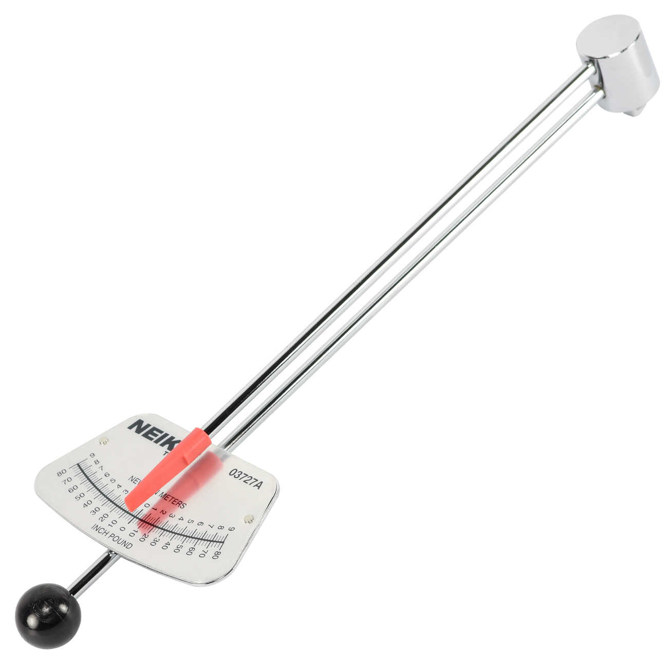 Neiko 1/4' Beam Torque Wrench | Reversible Socket Type Style Inch Pounds 80 in/lb 9 Nm