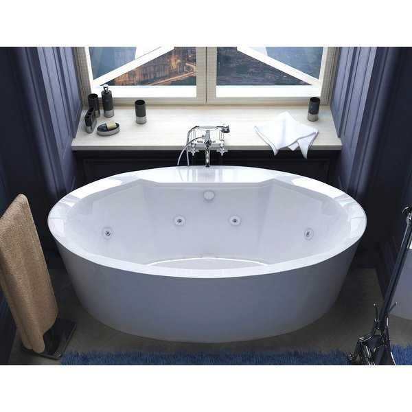 Avano AV3468SDX Luxury Suite 67-3/16' Acrylic Air / Whirlpool Bathtub for Freestanding Installations with Center Drain