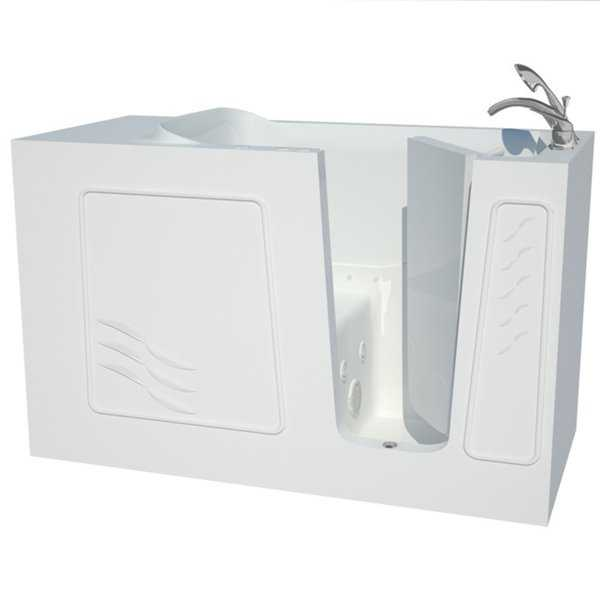 Explorer Series 30x60 Right Drain White Air and Whirlpool Jetted Walk-in Bathtub