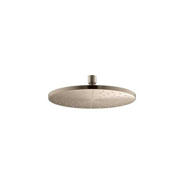 Kohler 10' Contemporary Round 2.5 Gpm Rainhead with Katalyst Air-Induction Technology Vibrant Brushed Bronze