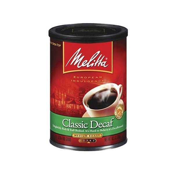 Melitta 605211 Classic Decaffeinated (Single Pack) Classic Decaf Ground Coffee