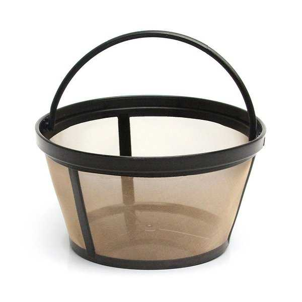GoldTone Reusable 8-12 Cup Basket Style Replacement Coffee Filter with Solid Bottom, Fits Mr. Coffee Makers and Brewers