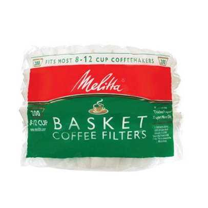 Melitta 629524 Basket Coffee Filters, 8-12 Cup, White