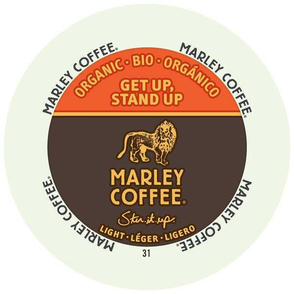 Marley Coffee Get Up Stand Up Light Organic, RealCups for Keurig Brewers 96 Count
