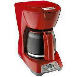 Proctor 43673 RED 12 Cup Programmable Coffee Maker - Red pack of 2